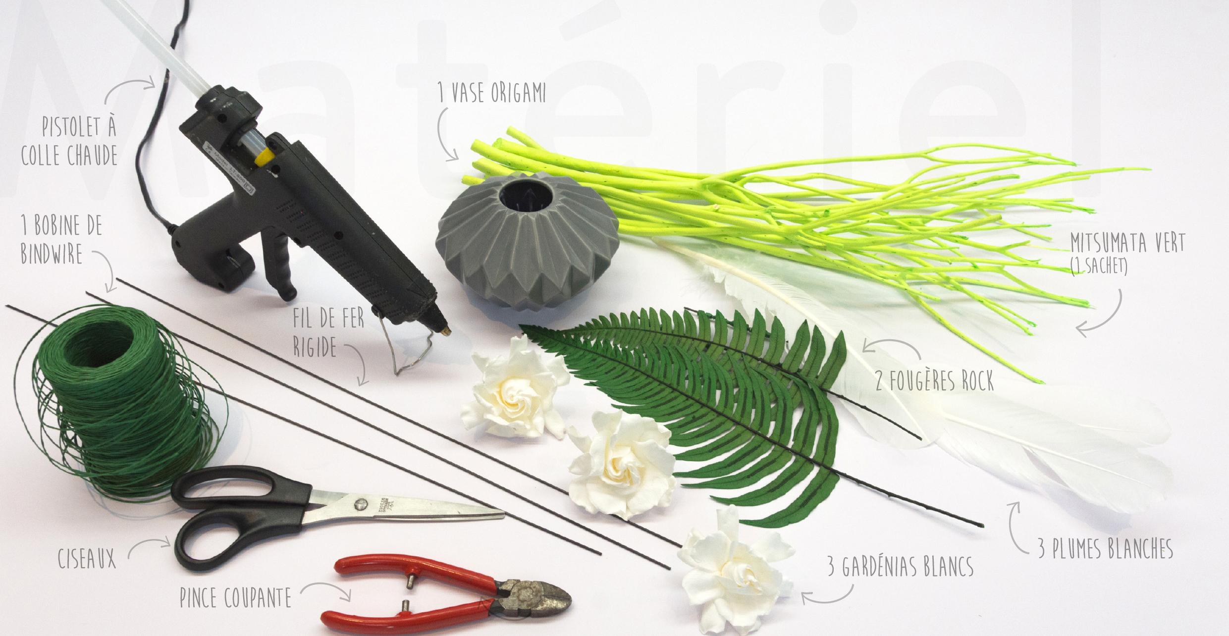 Precieux gardenias - materiel